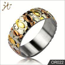 OEM Low Price 3 tones Fine Emerald Jewelry Ring