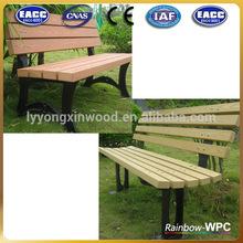 China low price wpc slat/garden bench/garden furniture