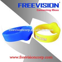 nylon/silicone rfid wristband