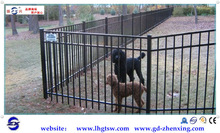 Hot dip removable temporary dog fence