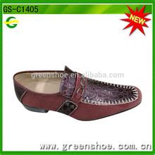 Latest design fashion low heel dress shoes men