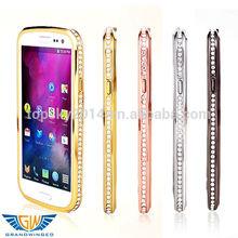 Luxury Rhinestone Diamond Bling Crystal Metal Aluminium Phone Bumper Cover For Samsung Gaxaly S3 i9300