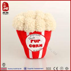 plush popcorn pet toys wholesale