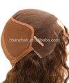 Alta qualidade cabelo humano brasileiro/fibra/cabelo sintético glueless seda topo peruca cheia do laço