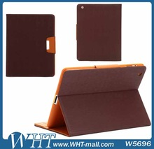 Dual Color TPU Soft Cover for iPad 2/ 3/ 4 Leather Case with Card Slots