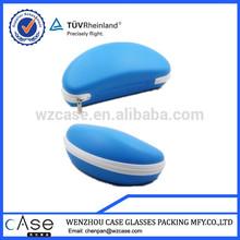 WZ Blue PU eyeglass eva case for sunglass with zipper H81CASE