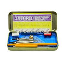 school geometry compass set pencil sharpener eraser box