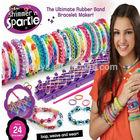 1200pcs loom bands1 pcs tool 48 pcs S clips 2014 Hot Fashion DIY Kids Kit Rubber bands Bracelet silicone loom band