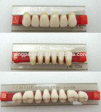 Dental Material False Acrylic Resin Teeth for Denture