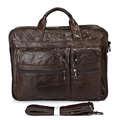 """7093q caber 15"""" polegadas laptop couro genuíno escritório maleta para homens"""