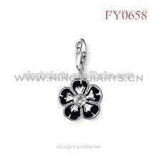 black painted flower pendant new pendant for girls