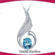 Kore moda anka zirkon gümüş 925 kolye