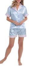 Mujeres pijamas de seda del verano Frozen pijamas