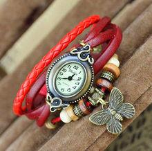 2014 Summer Women Dress Vintage Watches Wristwatches Leather Fashion Casual Ladies Bracelet Quartz Watch Paypal DW024