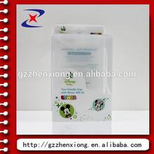 cute mickey transparent PET / PP plastic baby milk bottle box