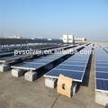 Pv toit support de montage du toit plat en béton fondation. solaire pv solaire kit de montage