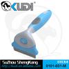 Professional dog deshedding tool, replaceable blade pet de-shedding comb