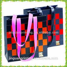 2014 popular gird pattern big shopping shoulder bag & hand bag