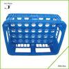 Folding corrugated plastic milk crates