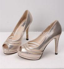 fashion girls champagne color women high heel platform dress shoes sexy peep toe ladies shoes