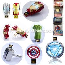 3D Shaped the marvels USB sticks/label usb flash drive/shenzhen usb wholesale alibaba LFN-051