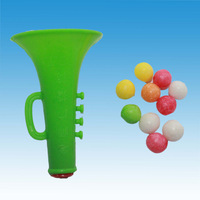 Small Plastic Trumpet Candy Toy
