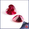 facetas del corazón corte rubí sintético de fotos de piedras preciosas