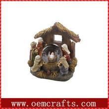 Fantastic jesus borning house human resin snow globe