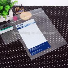 Custom printed LDPE plastic ziplock bag with heat-sealed and ''EZ'' perforated tear line