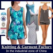 wholesale loungewear/sleepwear/cotton pajama cheap