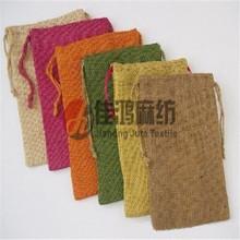 100%natural colorful jute storage bag