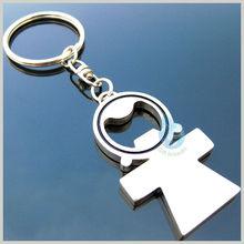 cheap bulk metal bottle opener blanks with key chain