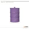 oil drum shape thin ceramic coffee mug with lid