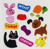 dog sticker jelly window sticker Gel Clings animal sticker