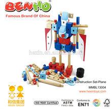 100pcs Plane Construction Set Unique Wooden Adult Game Toy