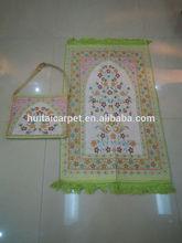 BT- 605 adult muslim prayer mat and rugs with bag Haji gift