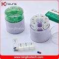Plastik silindirik mini alarm hap kutusu zamanlayıcı( kl- 9037)