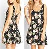 A-Line Floral Elegant Short Skater Dress