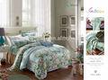 2014 venda hot LUXURY impresso TENCEL tecido da cama mais recente lençol projeto