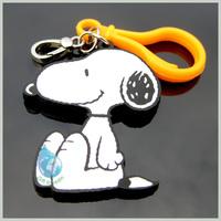 dog shaped plastic silicone key chain hook