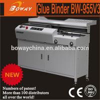 Alibaba supplier CE BOWAY 955V3 hot melt perfect glue binder machine