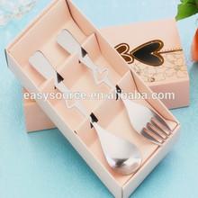 in bulk hot sale stainless steel lovely flatware wedding favors spoon fork tableware