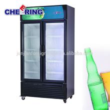 supermarket equipment guangzhou manufacture glass door display freezer beverage cooler drink refrigerator with CE certification