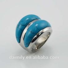 Wholesale Semi-precious gemstone Turquoise Fashion girls Rings