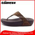 materia prima suela de cuña mujer zapatillas de pvc calzados con diamantes de imitación de plástico decoración de diamantes