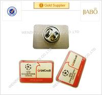 promotional sales Cheap Custom Logo Metal Screen Printing plus epoxy lapel pin Badge Wholesale