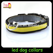 led party nylon waterproof pet product led dog collar leashes rechargeable led dog collar dog leashes sex