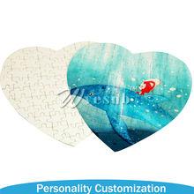Heart Sublimation Plastic Puzzle