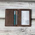 la vaca genuina de cuero titular de la tarjeta de bloqueo para de cuero titular de la tarjeta de crédito de la tarjeta monedero organizador