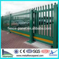 British Standard powder coated palisade cantilevered gate